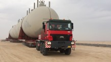 LPG Tank 447T Transportation by Titan Head Capacity 1000T
